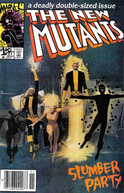 Cover for The New Mutants (Marvel, 1983 series) #21 [Direct Edition]