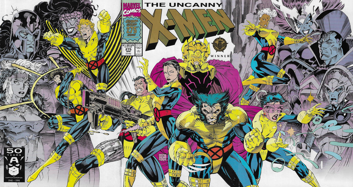 Cover for The Uncanny X-Men (Marvel, 1981 series) #275 [Gold 2nd Print]