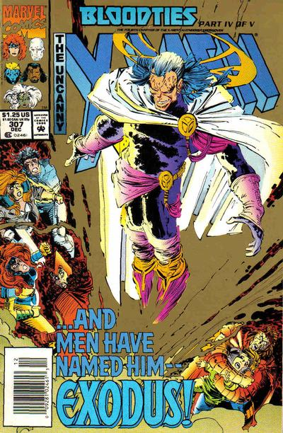 Cover for The Uncanny X-Men (Marvel, 1981 series) #307 [Newsstand]