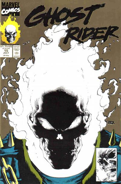 Cover for Ghost Rider (Marvel, 1990 series) #15 [Direct Edition]