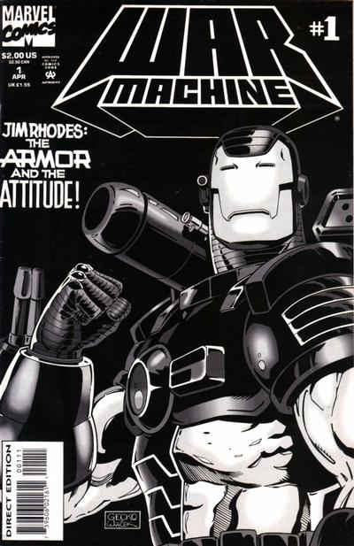 Cover for War Machine (Marvel, 1994 series) #1 [Newsstand Foil-Enhanced Cover]