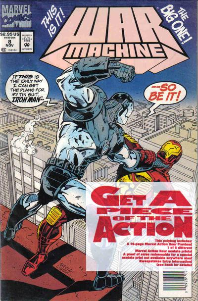 Cover for War Machine (Marvel, 1994 series) #8 [Newsstand Edition]
