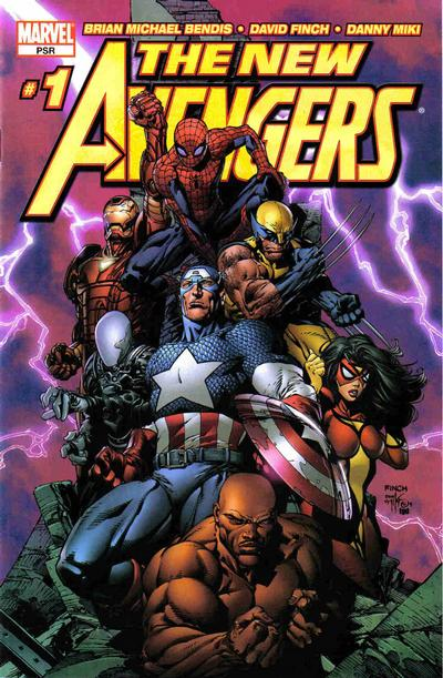 Cover for New Avengers (Marvel, 2005 series) #1 [Direct Edition]