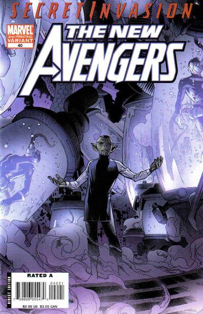 Cover for New Avengers (Marvel, 2005 series) #40 [second print variant]