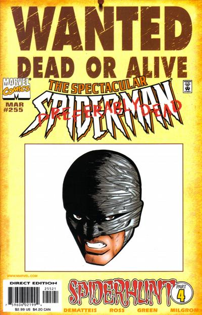 Cover for The Spectacular Spider-Man (Marvel, 1976 series) #255