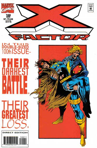 Cover for X-Factor (Marvel, 1986 series) #100 [Red Foil-Enhanced Cover]