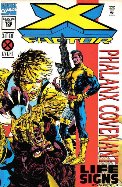 Cover for X-Factor (Marvel, 1986 series) #106 [Holo-Foil Enhanced Direct Edition Variant]