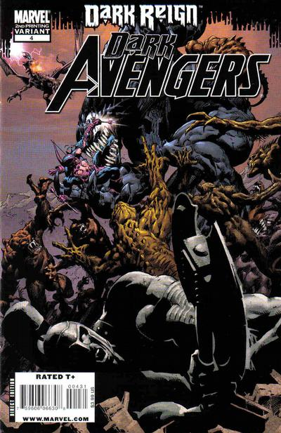 Cover for Dark Avengers (Marvel, 2009 series) #4 [2nd Printing Variant]