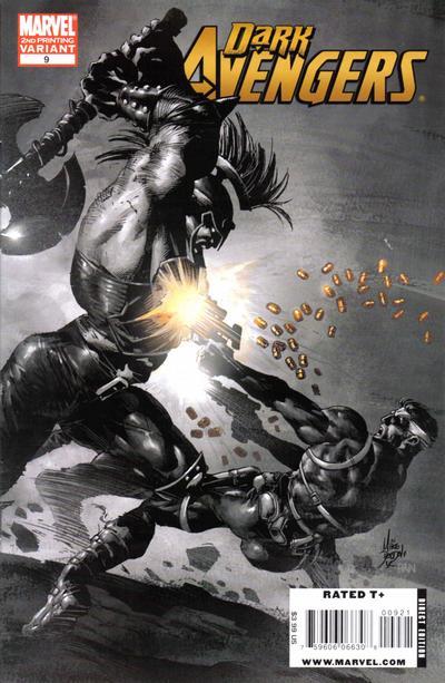 Cover for Dark Avengers (Marvel, 2009 series) #9 [2nd Printing]