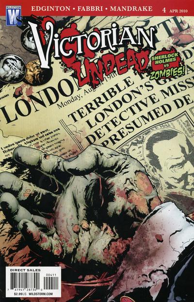 Cover for Victorian Undead (DC, 2010 series) #4