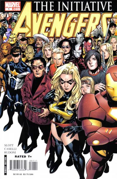 Cover for Avengers: The Initiative (Marvel, 2007 series) #1 [Left-hand side]
