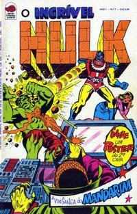 Cover Thumbnail for O Incrível Hulk (Editora Bloch, 1975 series) #7
