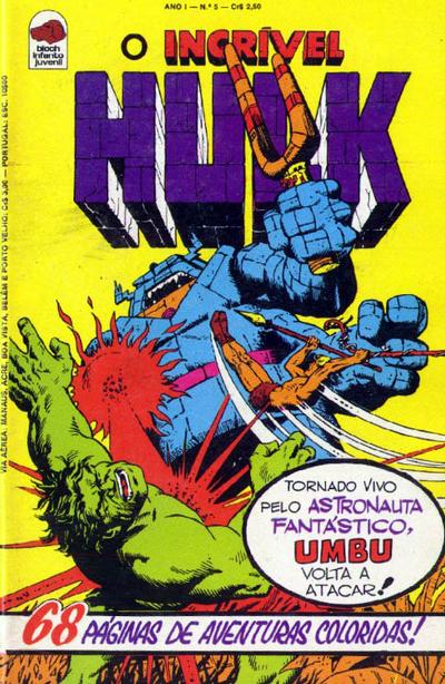 Cover for O Incrível Hulk (Editora Bloch, 1975 series) #5