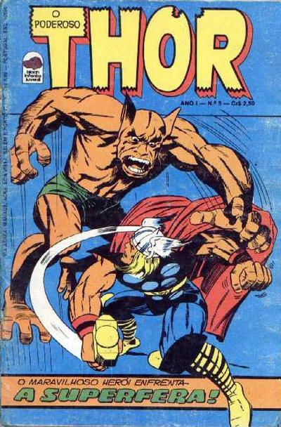 Cover for O Poderoso Thor (Editora Bloch, 1975 series) #5