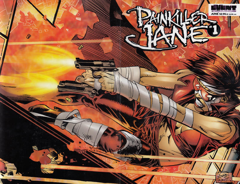Cover for Painkiller Jane (Event Comics, 1997 series) #1 [Quesada Cover]