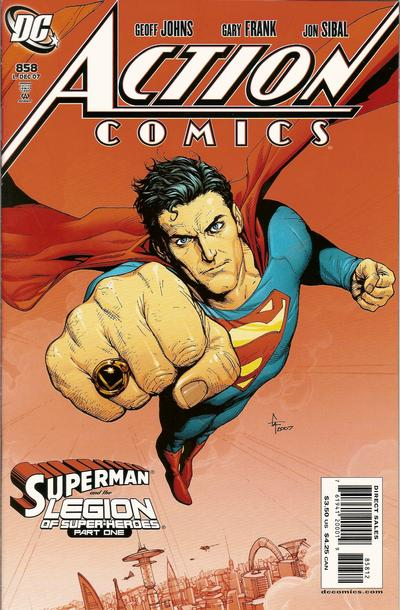 Cover for Action Comics (DC, 1938 series) #858 [2nd Printing]