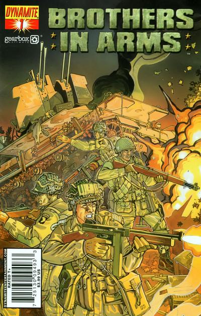 Cover for Brothers in Arms (Dynamite Entertainment, 2008 series) #1 [Davide Fabbri Cover]
