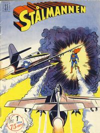 Cover Thumbnail for Stålmannen (Serieforlaget / Se-Bladene / Stabenfeldt, 1952 series) #1/1954