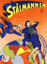 Cover Thumbnail for Stålmannen (Serieforlaget / Se-Bladene / Stabenfeldt, 1952 series) #3/1954