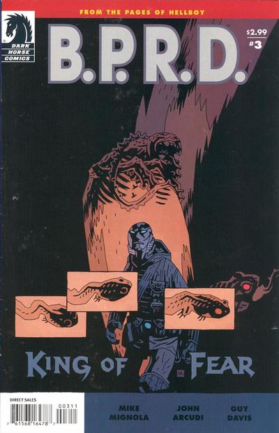 Cover for B.P.R.D.: King of Fear (Dark Horse, 2010 series) #3