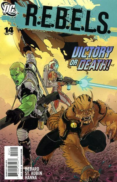Cover for R.E.B.E.L.S. (DC, 2009 series) #14