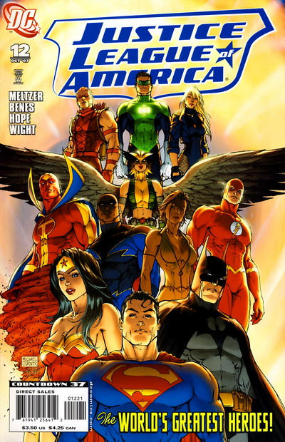 Cover for Justice League of America (DC, 2006 series) #12 [Second Printing]