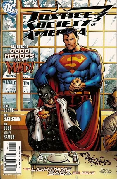 Cover for Justice Society of America (DC, 2007 series) #7 [Alex Ross Cover]