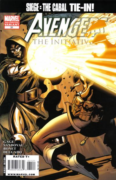 Cover for Avengers: The Initiative (Marvel, 2007 series) #31 [Second Printing]