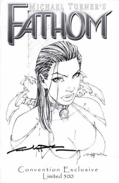 Cover for Fathom (Image, 1998 series) #4 [Turner/Silvestri (Green Logo)]