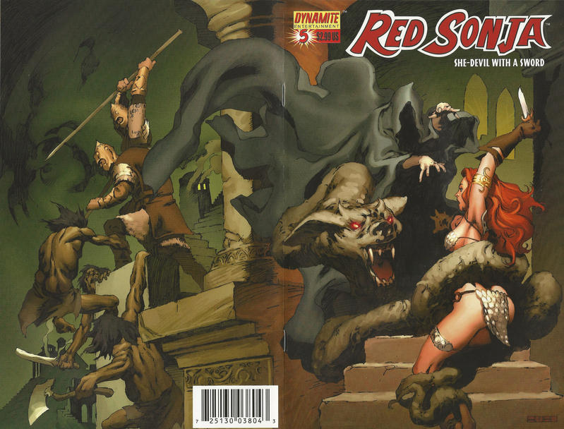Cover for Red Sonja (Dynamite Entertainment, 2005 series) #5 [Richard Isanove Cover]