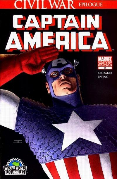 Cover for Captain America (Marvel, 2005 series) #25 [2nd Printing]