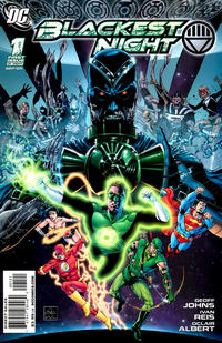 Cover Thumbnail for Blackest Night (DC, 2009 series) #1 [Ethan Van Scriver Variant Cover (1 in 25)]