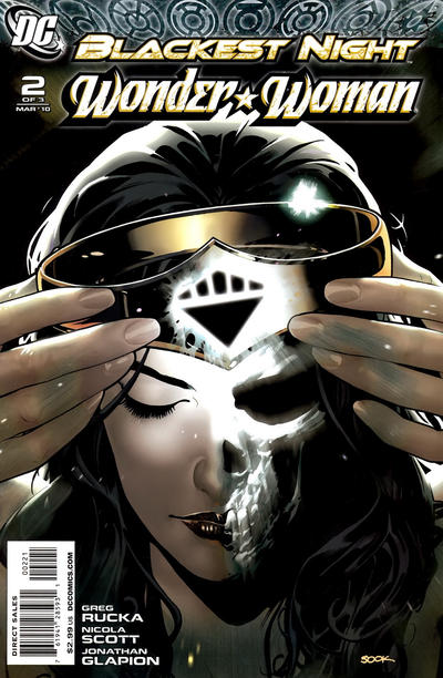 Cover for Blackest Night: Wonder Woman (DC, 2010 series) #2