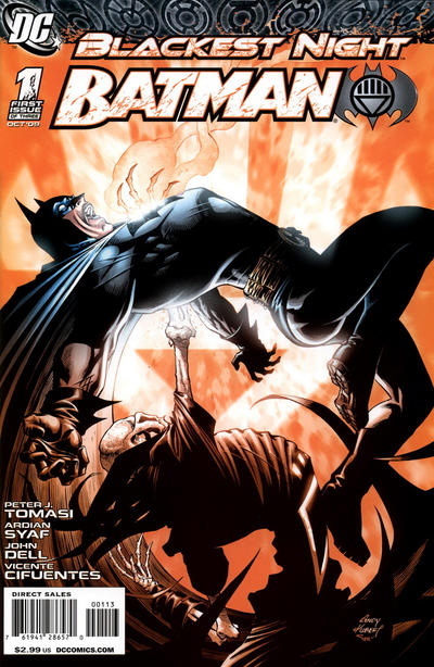 Cover for Blackest Night: Batman (DC, 2009 series) #1 [2nd Printing]