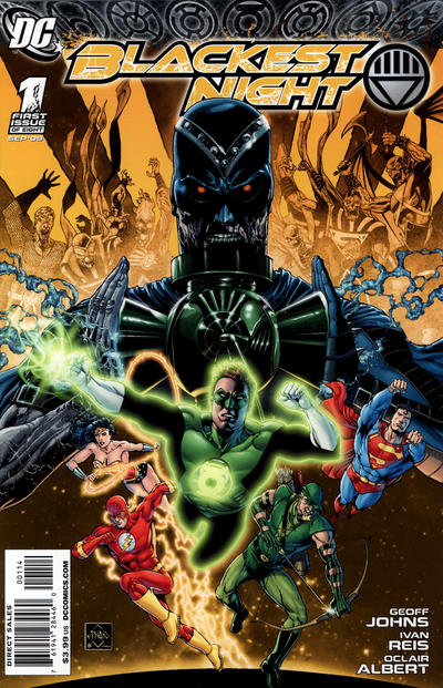 Cover for Blackest Night (DC, 2009 series) #1 [Ethan Van Scriver Variant Cover (1 in 25)]