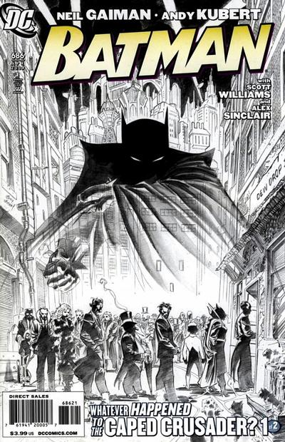 Cover for Batman (DC, 1940 series) #686 [Limited Edition Sketch Cover]
