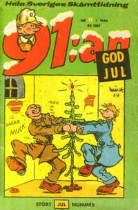 Cover Thumbnail for 91:an (Åhlén & Åkerlunds, 1956 series) #11/1956