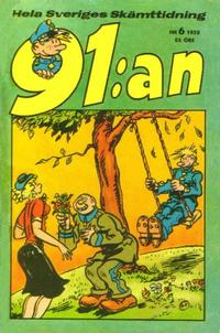 Cover Thumbnail for 91:an (Åhlén & Åkerlunds, 1956 series) #6/1958