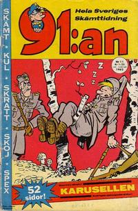 Cover Thumbnail for 91:an (Åhlén & Åkerlunds, 1956 series) #11/1962