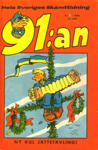 Cover for 91:an [delas] (Åhlén & Åkerlunds, 1956 series) #4/1956