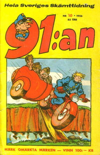 Cover for 91:an (Åhlén & Åkerlunds, 1956 series) #10/1956