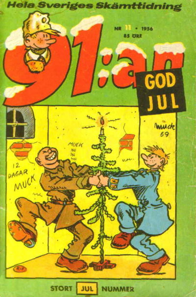 Cover for 91:an (Åhlén & Åkerlunds, 1956 series) #11/1956