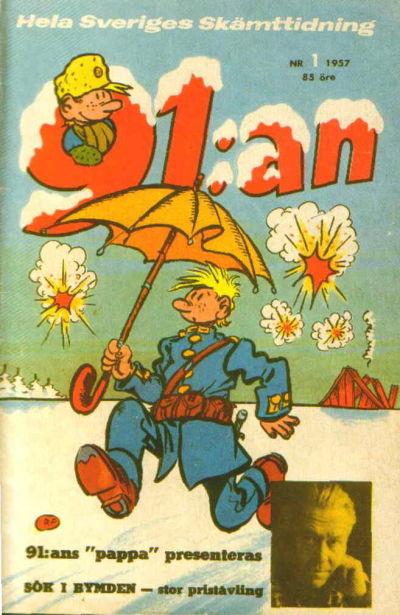 Cover for 91:an (Åhlén & Åkerlunds, 1956 series) #1/1957
