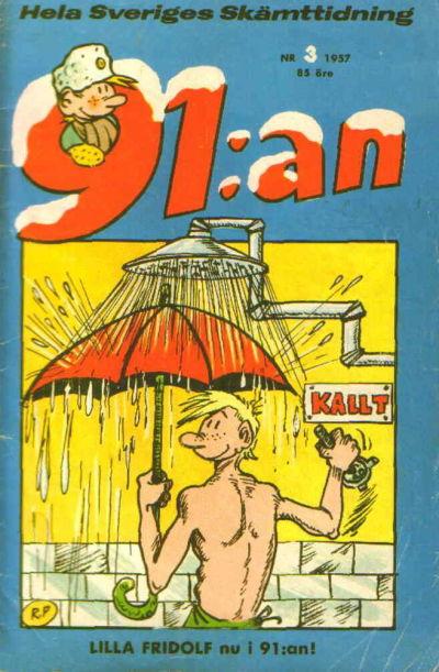 Cover for 91:an (Åhlén & Åkerlunds, 1956 series) #3/1957