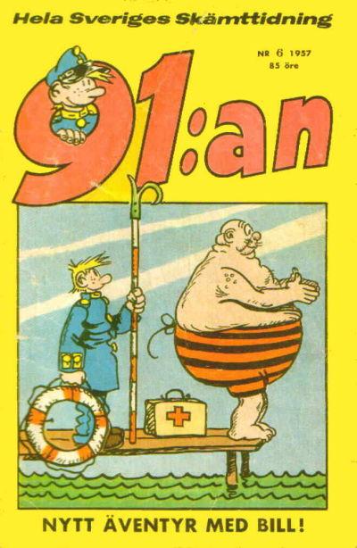 Cover for 91:an [delas] (Åhlén & Åkerlunds, 1956 series) #6/57