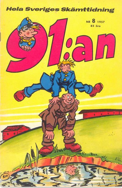 Cover for 91:an (Åhlén & Åkerlunds, 1956 series) #8/1957