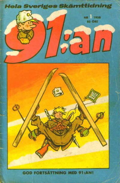 Cover for 91:an (Åhlén & Åkerlunds, 1956 series) #1/1958