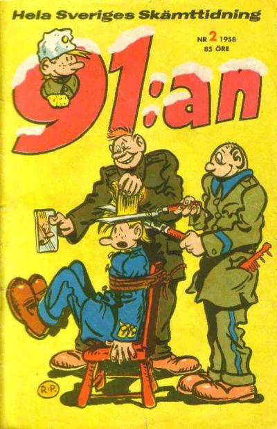 Cover for 91:an [delas] (Åhlén & Åkerlunds, 1956 series) #2/58