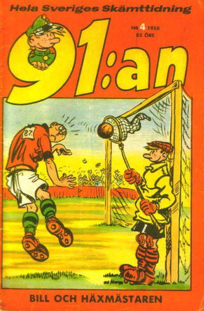Cover for 91:an (Åhlén & Åkerlunds, 1956 series) #4/1958