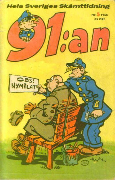 Cover for 91:an (Åhlén & Åkerlunds, 1956 series) #5/1958
